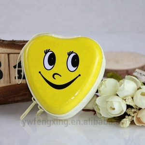 Promotional metal heart shaped cheap custom coin pendant holder with free sample