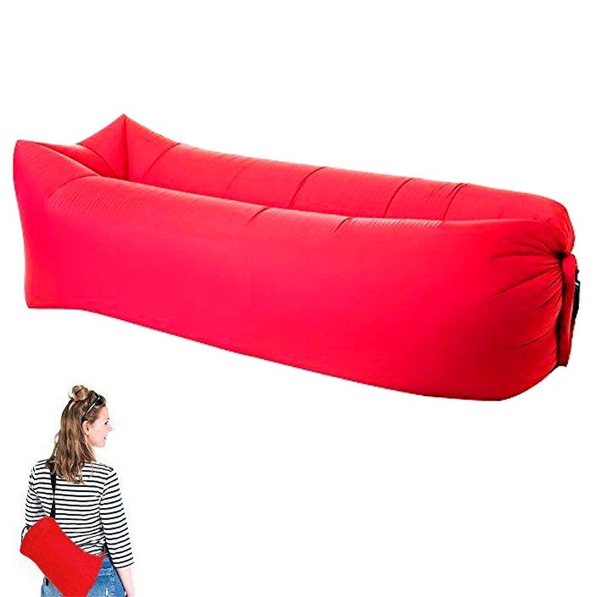 Get Quotations Jisoncase Inflatable Lounger Sofa Portable Air Mattresses Beds Beach Sleeping Waterproof Fast Self