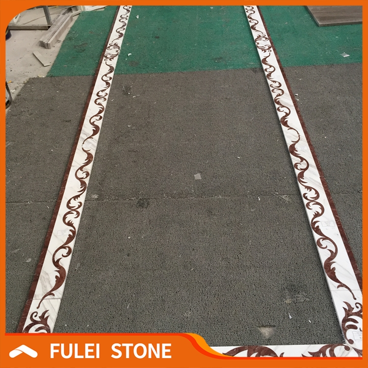 Top quality best price waterjet marble flooring border patti designs