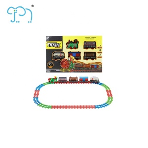 Children Toys Electric Music And Light Railcar For Kids