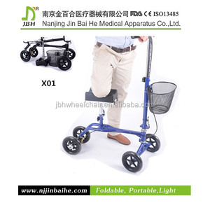 light weight portable aluminum adult walker with wheels