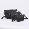 New Embassy Black Genuine Leather 3pc Large/Small/Cosmetic Purse Set