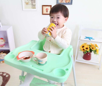 Plastic PP baby high chair plastic low baby chair multi-function baby high chair