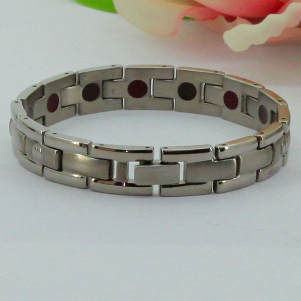 Desirable Tungsten Silver Brace lace ,Laser Logo Bracelet,Adjustable Length