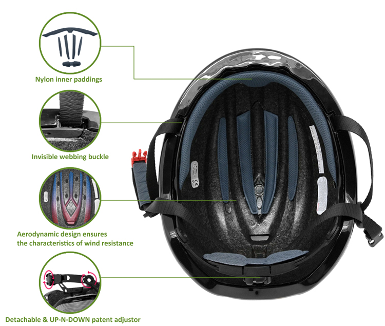 2019 Newly Design Kids Adults Speed Skating Helmet 9