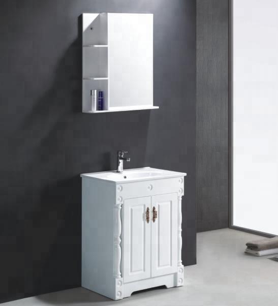 Pvc Blanc Classique Evier Armoires Moderne Armoire De Toilette Avec