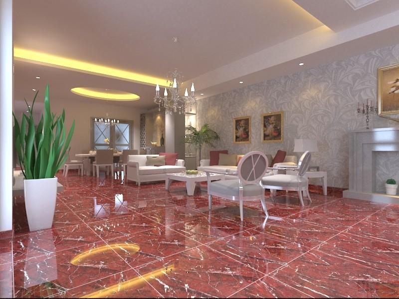Hs617gn Rose Porcelain Floor Tiles Oman Red Stone Vitrified