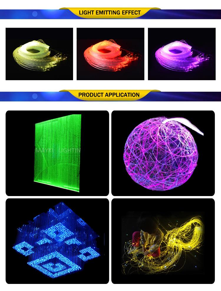 10 ~ 2000 M DEL Fiber Optic Fiber Glass Fibre PMMA 0.75 mm