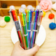 6 color pen School stationery office supplies feature ballpoint multicolor ball pen