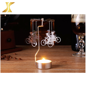 Alibaba hot sale spinning candle holder metal rotary spinning candle tealight holder 1000pcs