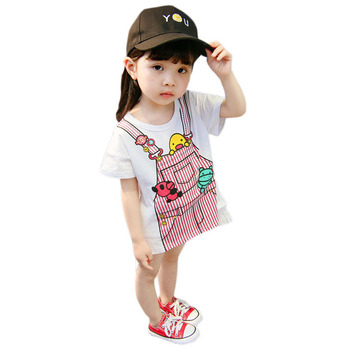 Baby Girl Frock Design 2014 Photo Cartoon Backpack Printed Dress Skirt