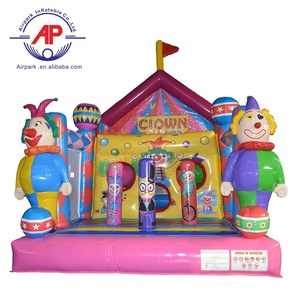 Airpark customized mini Funny colorful castle inflatable clown bouncer house
