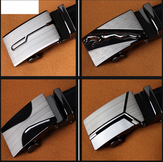 2018 Free Sample Ratchet Dress Belt men's genuine leather man belt with Automatic Buckle