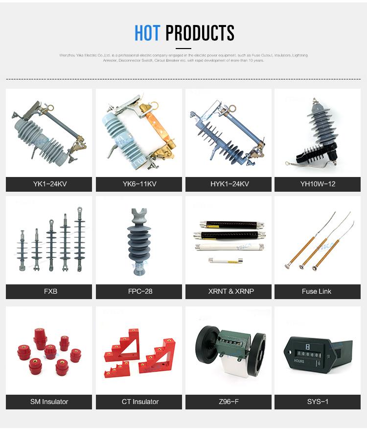 Wenzhou Yika IEC Fabricantes de PEAD Pino Isolador 33KV Isolador Composto