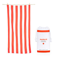 Custom Brand Sand Free Microfibre Stripes Printed Striped <span class=keywords><strong>카바나</strong></span> 마이크로 화이버의 셔닐 실 Beach 수건 와 Mesh Bag