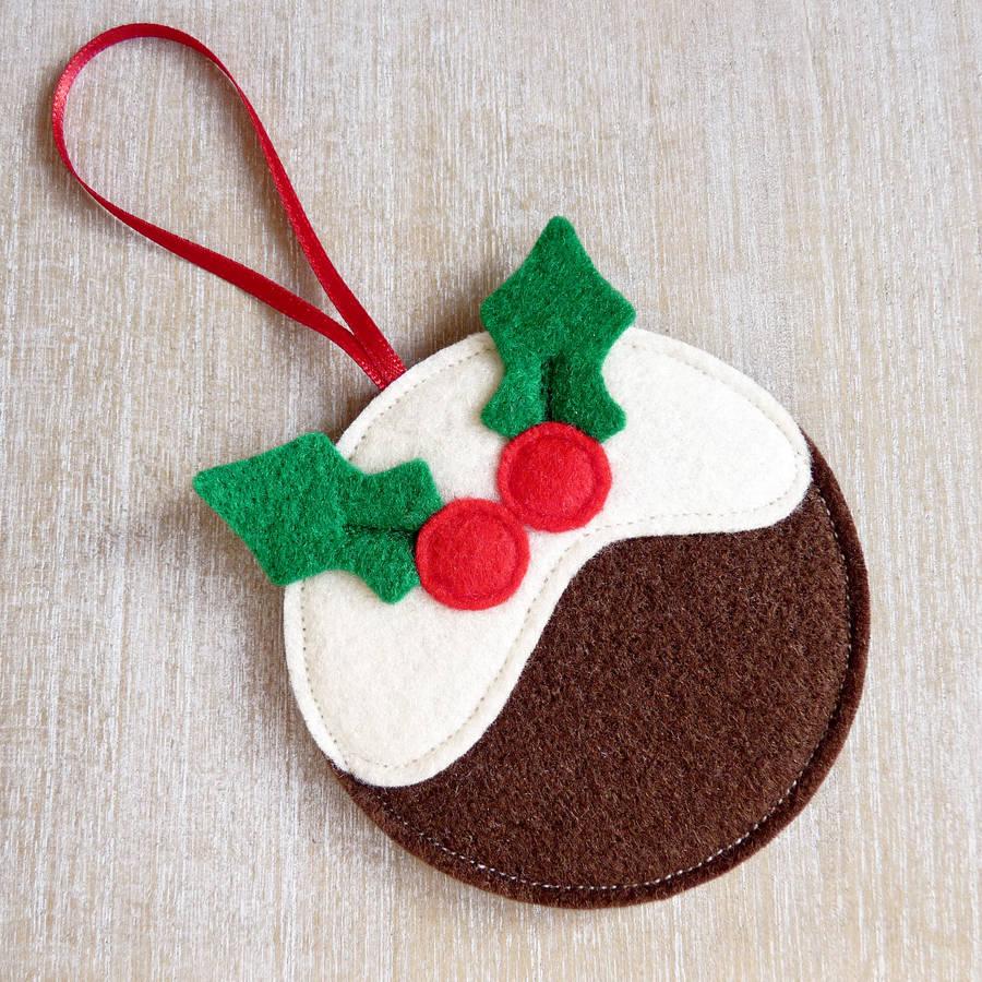 Handmade Felt Pudding Christmas Decoration - Buy Christmas Felt ...