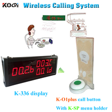 Top Popular Good Quality Good Price about Call For Service Table Buzzer Menu Holder Restaurant Electronic Paging System