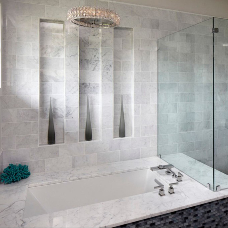 construction material master bathroom natural stone cheap marble tile price