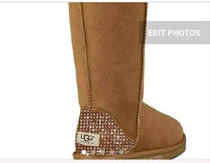 Get Quotations · Custom Uggs, Classic UGG Boots, Brown Classic Uggs, Classic Tall Uggs, Bling
