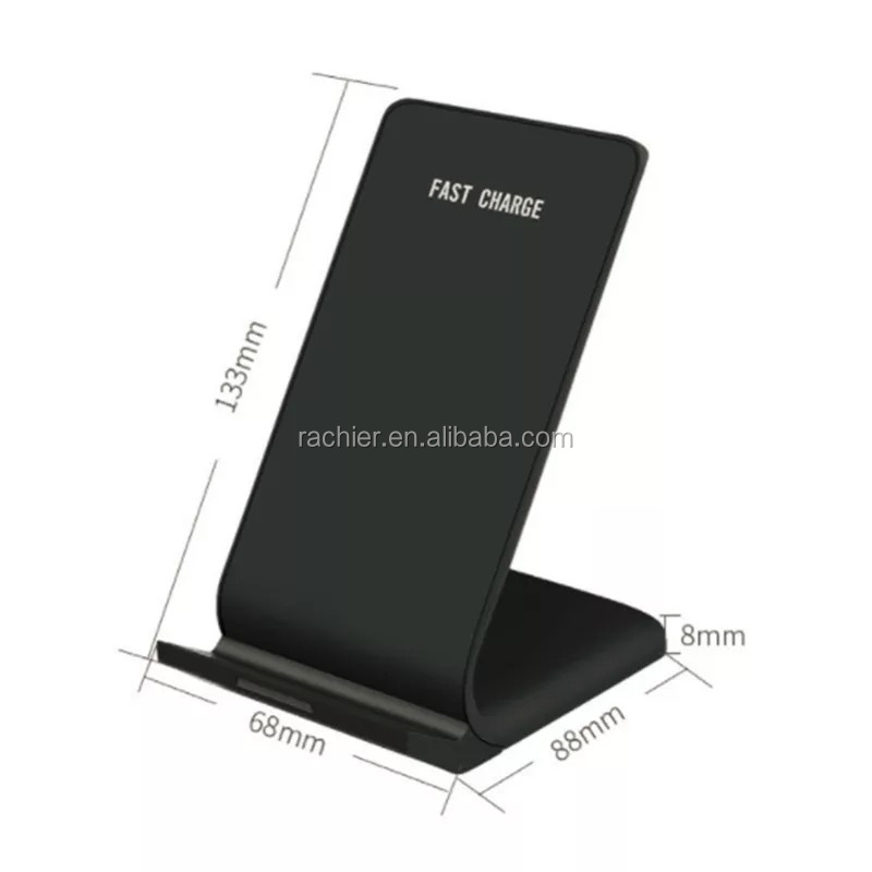Hot Products portable mobile phone qi wireless charger with 2 coils for iPhone X fast wireless charger qi stand