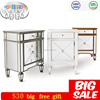 Hot sale handmade mirrored furniture cheap nightsand bedside table modern for bedroom