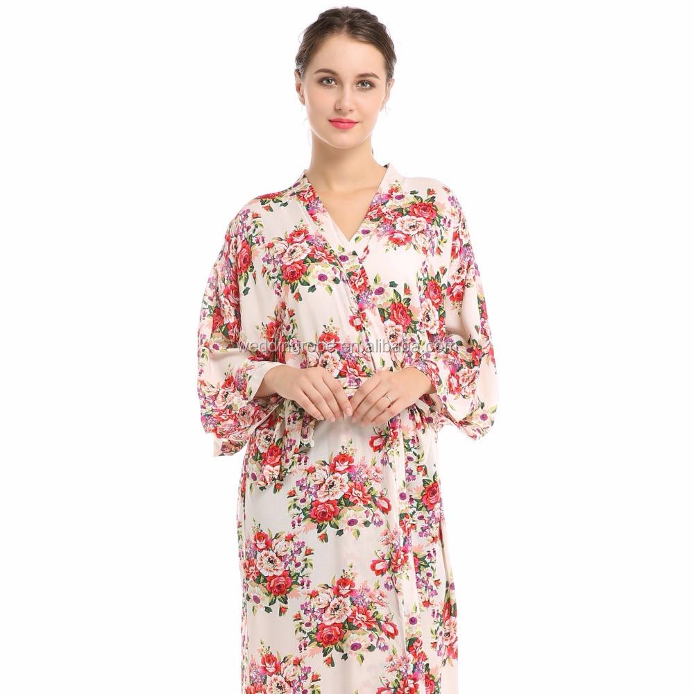 Venta al por mayor batas de algodon para mujer-Compre online los ...