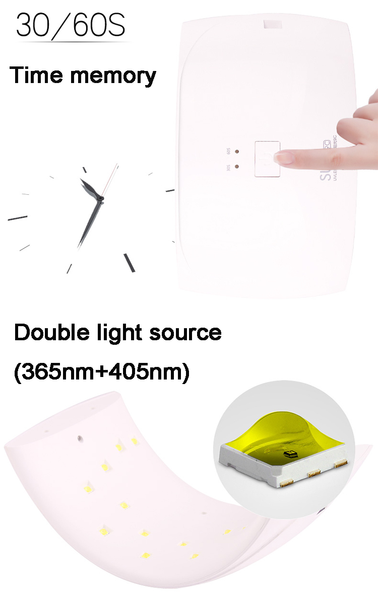 Nail Beauty Tool Sun9 36w Uv Kids Nail Polish Dryer With Dual Light ...