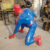 China Suppliers New Product Life Size Movie Action Figure Statue Fiberglass Spider Man Sculpture