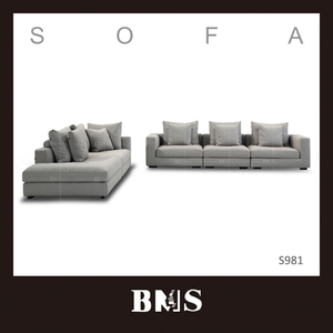Customized indoor commercial sit up living room sofa set