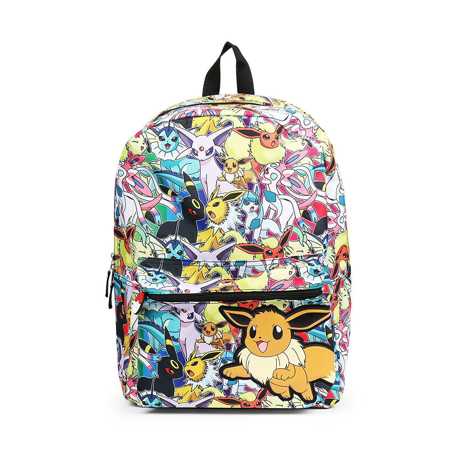 Get Quotations · Pokemon Eevee Evolution All Over Print Backpack School Bag f5ce12643883a