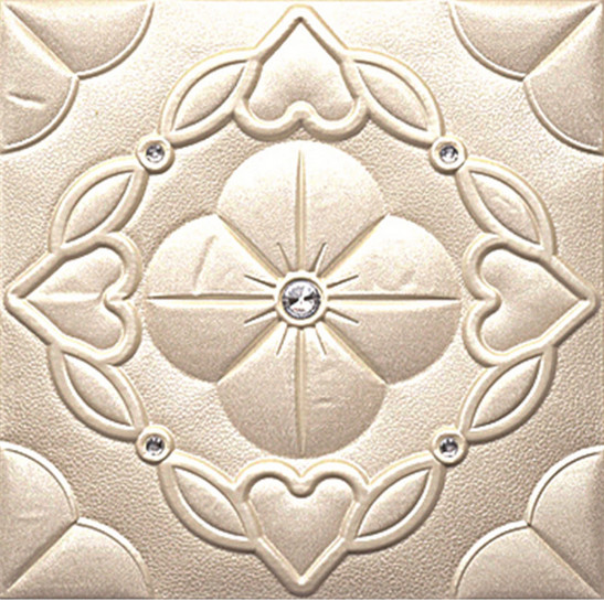 Indian eco friendly 400mm*400mm wholesale durable interior design patterned leather wall panels