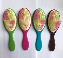 best sale korea human make up the wetting detangling plastic hair brush