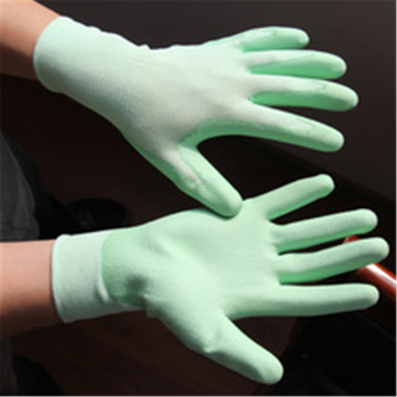 Brand MHR PU gloves for mobile phone manufacture industrial working gloves EN388 4131