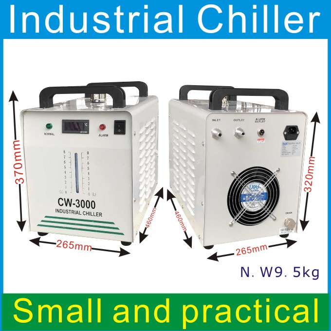 CW3000AG voor Glas Pijp 10 W-80 W Mini Chiller