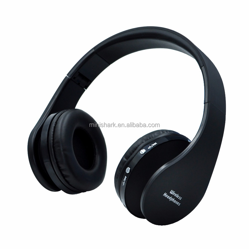 OEM brand kids wireless stereo headphone with TF card blue tooth headphone FM radio headsets