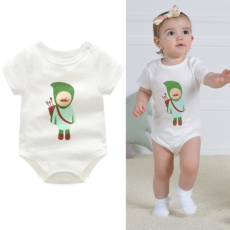 China factory oem/odm cartoon baby clothing jumpsuit wholesale cotton unisex baby clothes rompers set with logo/color/size