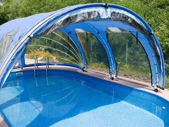 Swimming Pool Mobile Roof 8,10 X 4,10 M - Buy Roof For Swimming ...