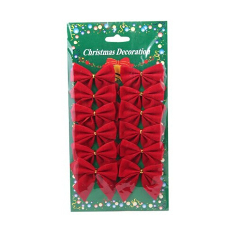 get quotations giveme5 12 pcs mini 6cm christmas charms decoration ornaments ribbon bows red red