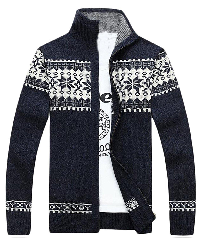 7ba25e03975f Cheap Double Jacquard Thick Sweater