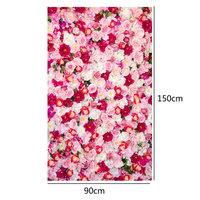 3x5ft Pink Rose Photography Backdrops for Newborn Baby Children Romantic Flower Photography Background for Wedding