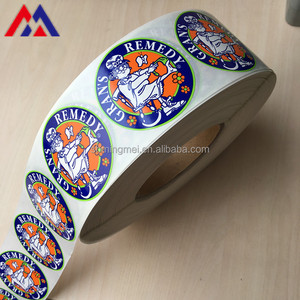 Accept custom Reliable Quality logo roll adhesive pvc sticker label