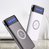 2018 trending products 20000mah power bank wireless charger with type c
