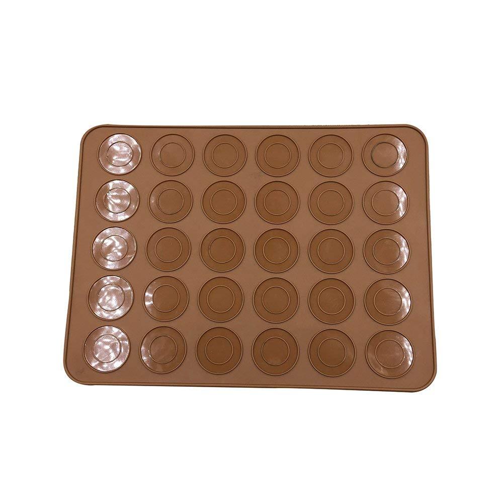 "30-Cavity Silicone Macaron Pastry Oven Baking Mold Sheet Mat, DIY Mold Baking Mat for Kitchen Dessert Baking 11.6"" x 8.5"""