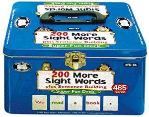 200 More Vocabulary Sight Words plus Sentence Building Fun Deck - Super Duper Educational Learning Toy for Kids