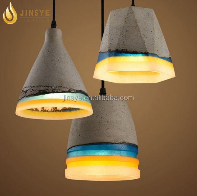 industrial ceiling hanging lamp socket concrete lamp shade