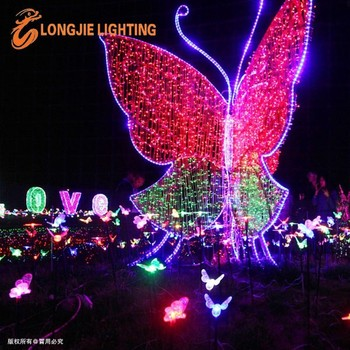 different outdoor holidays decoration lights big butterfly led animated christmas lights motifs