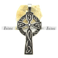 fashion custom design cross necklace jewelry stainless steel celtic cross pendant