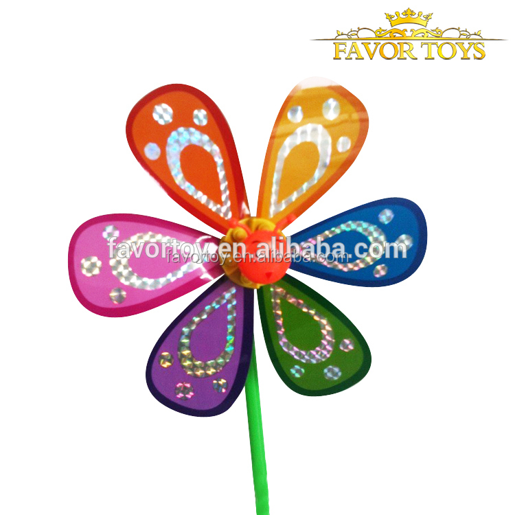 Direct factory price decoration plastic garden windmill