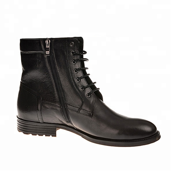Military Boots Fashion Shoes Men Black Leather Police Boots - Buy ... a38f7bd67