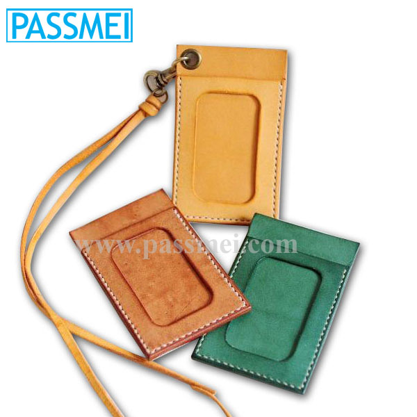 Real Cow Leather ID Card Case, Business Card Holder, Credit Card Holder